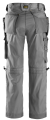Snickers 3223 Rip-Stop Floorlayer Holster Pocket Trousers (Grey/ Black)